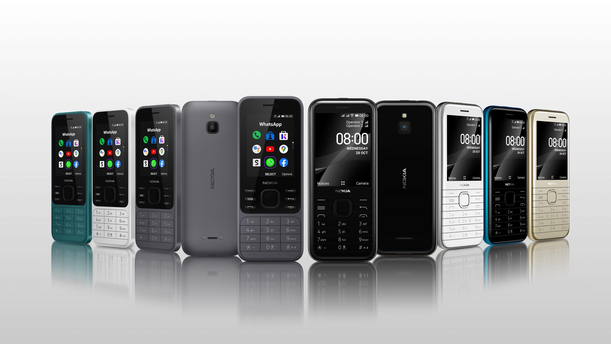 HMD Global brengt nieuwe smart feature phones met 4G-connectiviteit en vertrouwd design uit