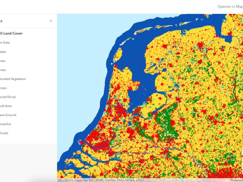 Esri maakt nieuwe hoge-resolutie wereldkaart van bodemgebruik beschikbaar als onderdeel van Living Atlas